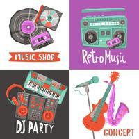 Conceito de design de música