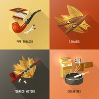 Conceito de design de tabaco vetor