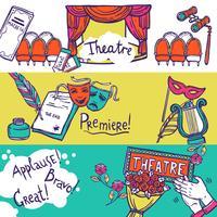 Conjunto de Banner de Teatro