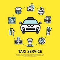 Ilustração de serviço de táxi