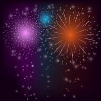Fundo colorido de fogo de artifício