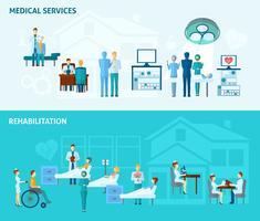 Conjunto de Banner de médicos