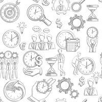 Gerenciamento de tempo sem emenda vetor