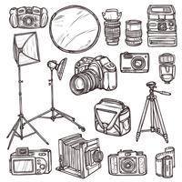 Conjunto de ícones de câmera vetor