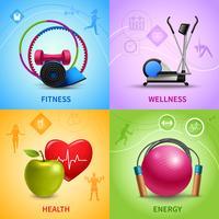Conjunto de ícones de fitness