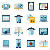 Conjunto de ícones de aprendizagem vetor
