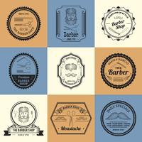 Logotipos de barbearia vetor