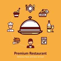 Ilustração do conceito de restaurante vetor