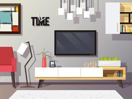 Conceito de sala de estar vetor