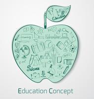 Conceito de Doodle de educação