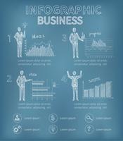 Croqui de infográficos de negócios