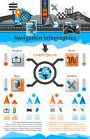 Conjunto de infográfico de navegação vetor
