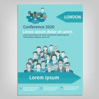 Ilustração de conferência de brochura