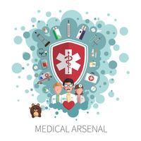 Conceito de serviços de saúde de medicina vetor