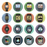 Ícones de relógio inteligente vetor