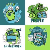Conceito de design de negócios vetor