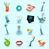 Conjunto de ícones de estomatologia
