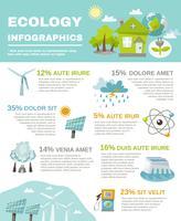 Infografia de energia ecológica vetor