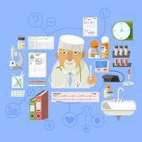 Composição de cartaz de conceito médico bandeira vetor