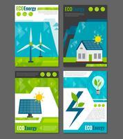 Cartaz de ícones de energia eco vetor