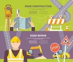 Banner de trabalhador de estrada