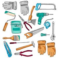 Pintor de ícones de ferramentas de trabalho definir cor