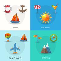 Conjunto poligonal de viagem