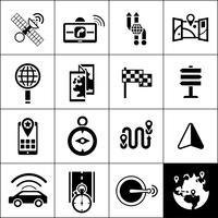 Ícones de navegação preto