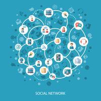 Conceito de comunicação de redes sociais vetor