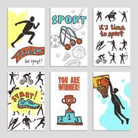 Esporte Esboço Cartões