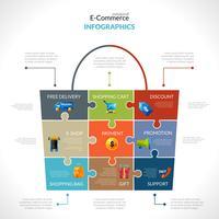 Infografia poligonal de comércio eletrônico vetor
