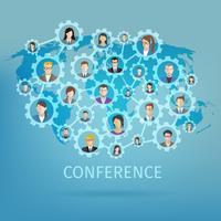 Conceito de conferência de negócios
