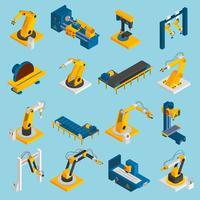 Máquinas de Robôs Isométricos vetor