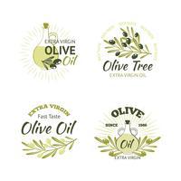 Conjunto de emblemas verde-oliva vetor
