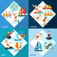 Conjunto de Esportes Aquáticos vetor