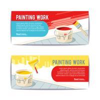 Banners de trabalho de pintura vetor