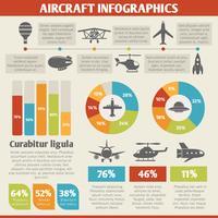 Infográfico de ícones de aeronaves vetor