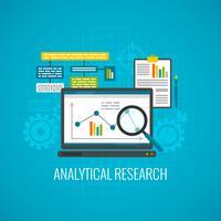 Ícone de pesquisa de dados e análise vetor