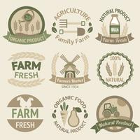 Rótulos de agricultura colheita e agricultura