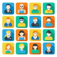 Conjunto de ícones de Avatar de negócios