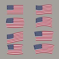 formas de bandeiras americanas vetor