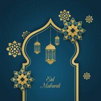 Ilustração vetorial de Eid Mubarak vetor