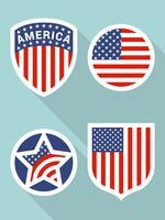 Incrível conjunto de bandeira americana vector