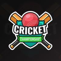 Emblema do campeonato de críquete vetor
