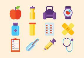 Conjunto de vetores de saúde