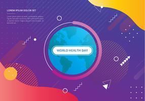 Dia Mundial da Saúde na ilustração de formas geométricas
