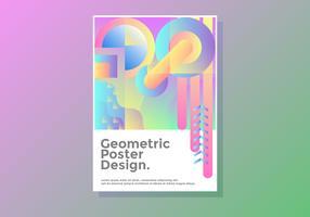 Design geométrico de pôster vetor