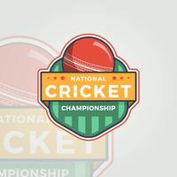 Campeonato Nacional de Críquete vetor