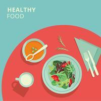 Ilustração de comida saudável vetor