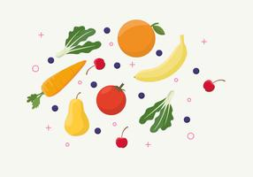 Comida saudável vetor